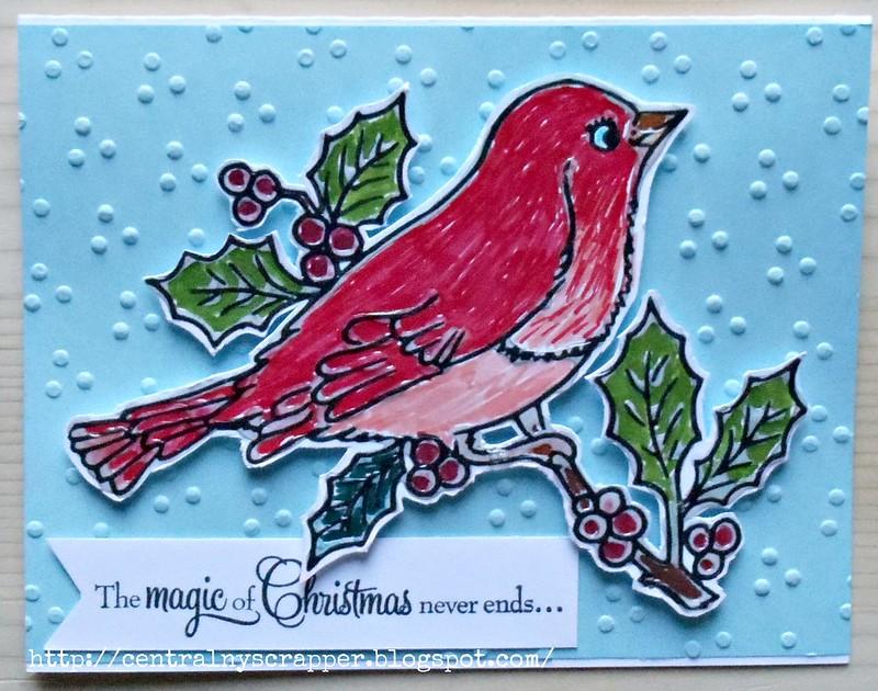 Christmas Card - Christmas Robin 02
