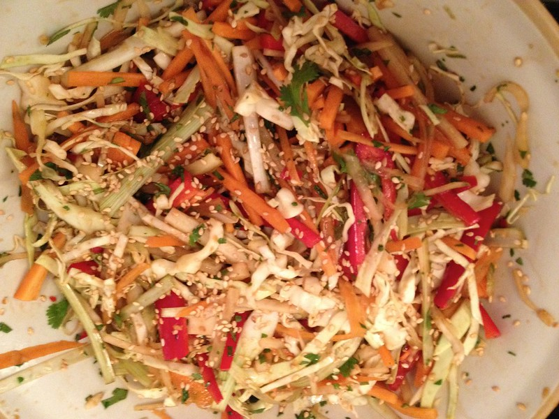 Asian Slaw : Sprinkle over the Sesame Seeds