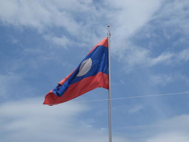 Vientiane  Laos Flag