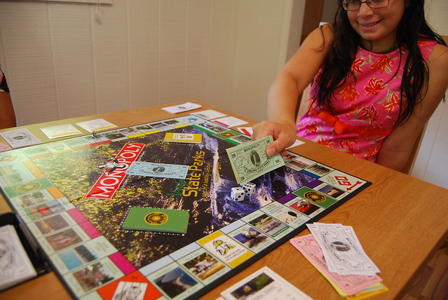 Going screen free can be fun! Play board games at home or your favorite park (Hungry Mother State Park cabin)