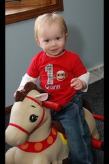 Quinn loves his horsey