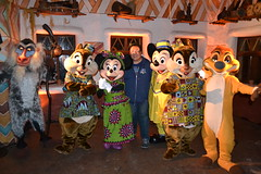 Meeting the Disney's Dine Under the African Stars Gang