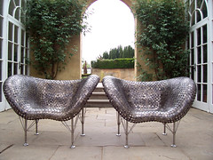 Chairs made from USA coins