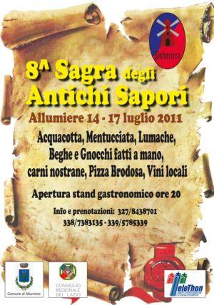 Sagra degli antichi sapori 2011 ad allumiere roma for Ricette degli antichi romani