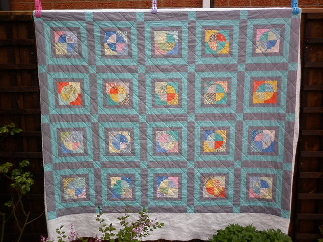 DP quilt - quilting finished!