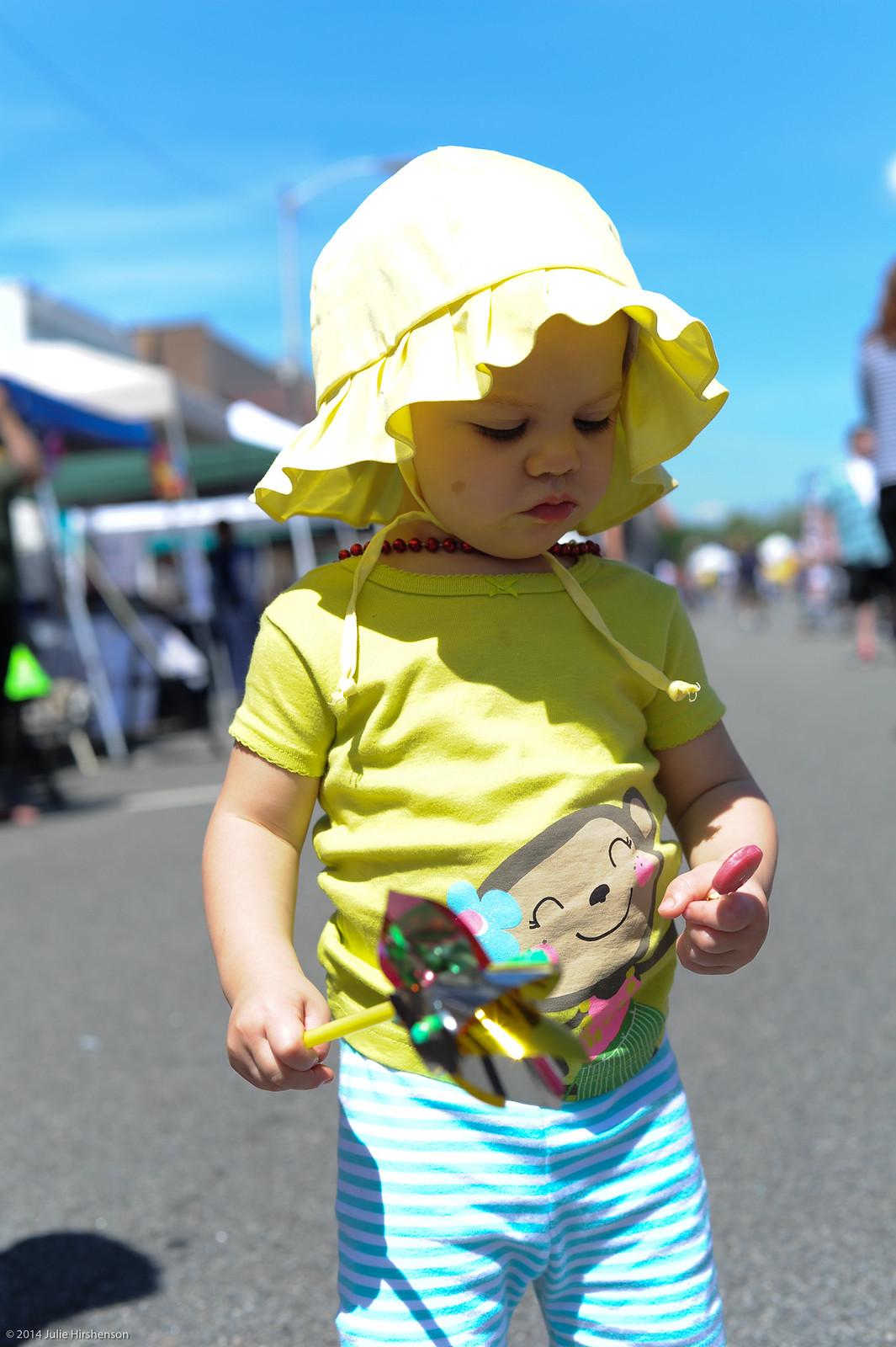 Audrey at the Denville Street Fair