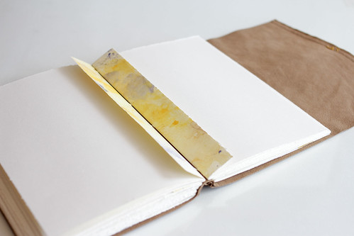 Leather Longstitch Watercolor Journal-18