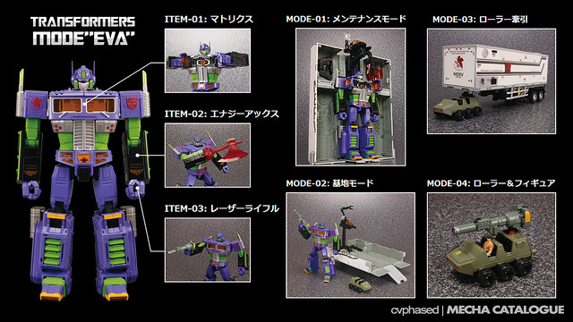 "Transformers x Evangelion - MP-10 Optimus Prime Mode ""EVA"""