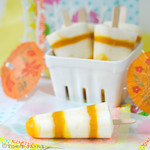 Mango yogurt popsicles
