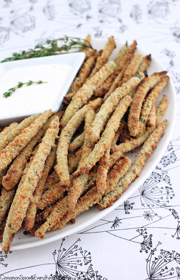 Crispy Baked String Bean Fries | Cinnamon-Spice & Everything Nice