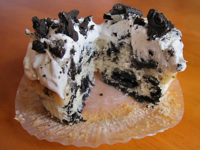 Oreo cupcake innards