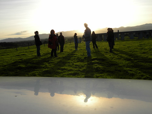 sunset newzealand selfportrait reflection self shadows meetup solstice sp 365 jacqi wairarapa overthehill year4 gueststars 365days tobeblogged stonehengeaotearoa create365 morethan365 wellingtonwonders 365of2011