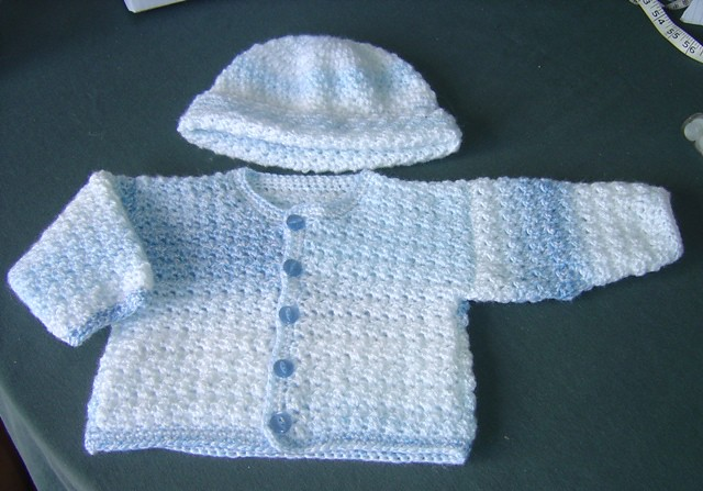 Free Crochet Baby Boy Sweater Set Patterns Craft Brag Crochet Baby