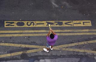 Montmartre Street Trumpeteer - Paris