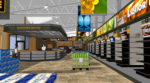 Convenience Store Floor Plan: Liquor Store Layout