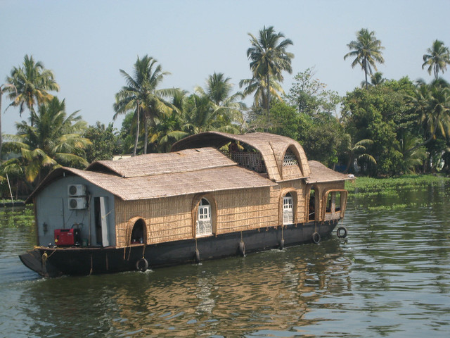 Houseboat on Keralan Backwaters