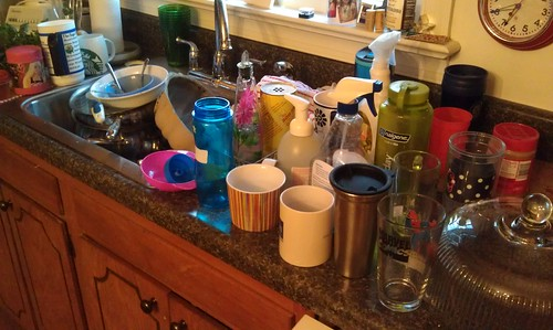 March 22, 2012: Dishes for Family of 5-time to get to work