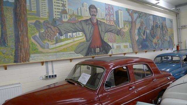 Russische Szene aus dem Leben der Sowjetbürger