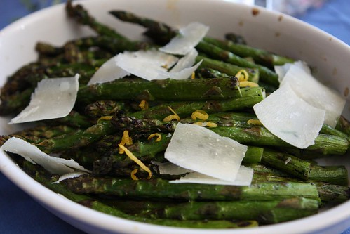 Grilled Asparagus with Lemon and Shaved Bella Lodi