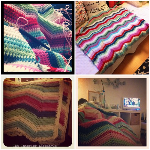 Cosy ripple blanket