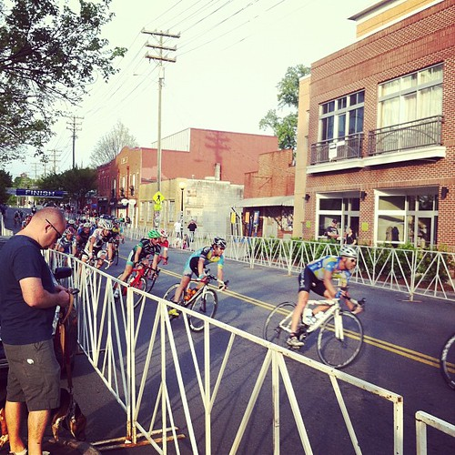 Went to go check out our new neighborhood and BAM! Bicycle race!
