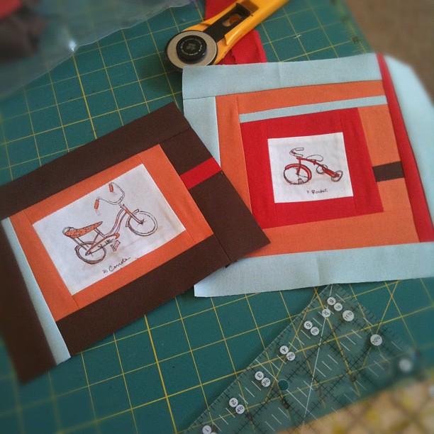 I love bikes quilt