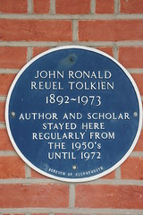 Photo of John Ronald Reuel Tolkien blue plaque