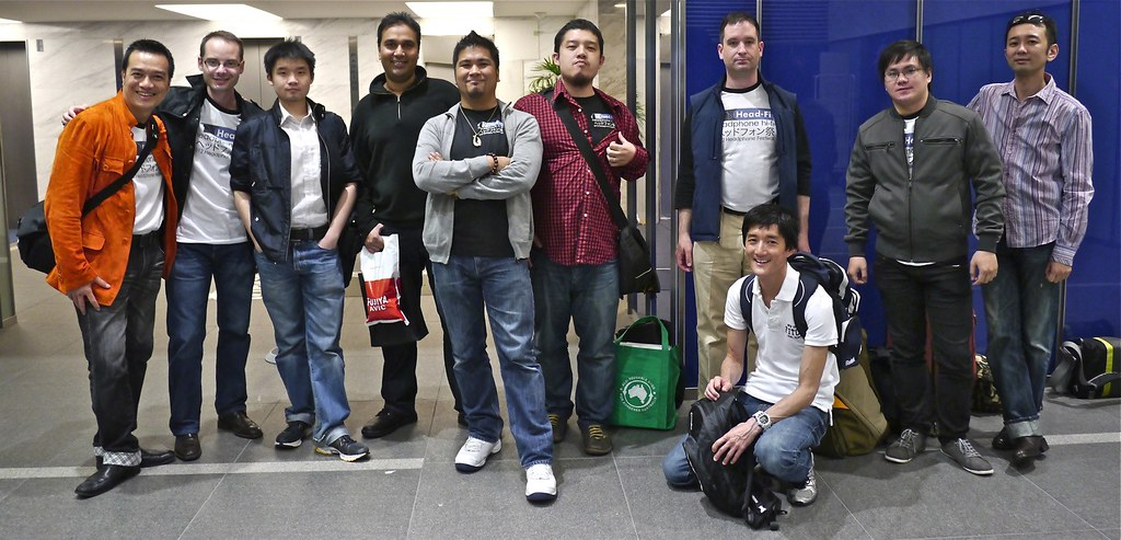 The guys in Tokyo for the Fujiya Avic 2012 Spring headphone festival.