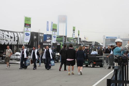 The paddock at Mazda Raceway at Laguna Seca