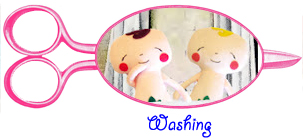 washing finished dolls