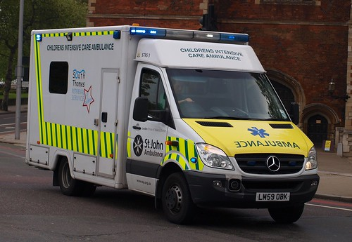 St John Ambulance, Mercedes Sprinter, Children's Intensive Care Ambulance, LM59 OBK