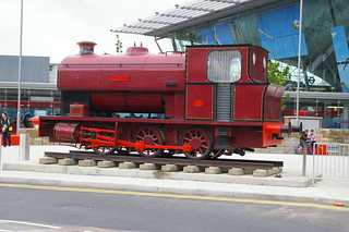 12-150 Ex Lamport Ironstone's Avonside 0-6-0ST 2068/33 'Robert' on static display at Stratford