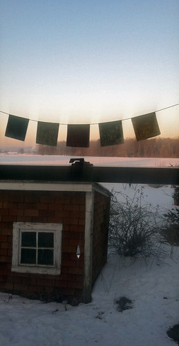 winter sky snow cold barn sunrise ma massachusetts shed january amherst dailyphoto photooftheday peaceflags 2013