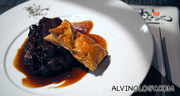 48 hours Braised Pork Belly in Red Wine and Sake (S$28)