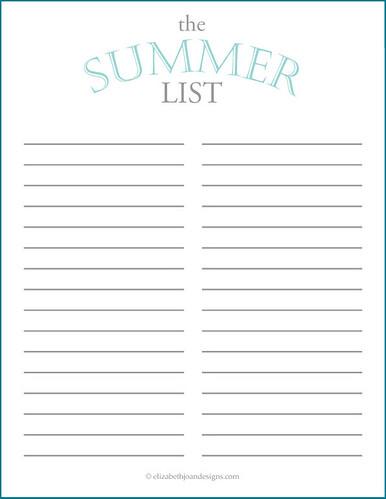 Summer List 3
