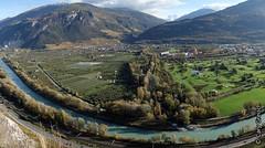 Vue panoramique sur la vallée du Rhône depuis 'Cochetta', près de Champlan (2013-10-30 -24)