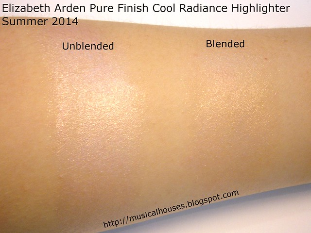 Elizabeth Arden Pure Finish Cool Radiance Highlighter Swatcches