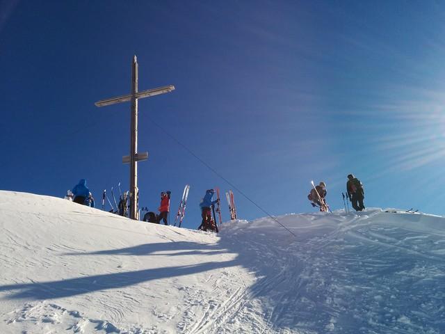Gipfelkreuz der 2.624 m hohen Kreuzspitze, Villgratental