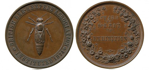 Surrey Beekeepers Association medal reverse