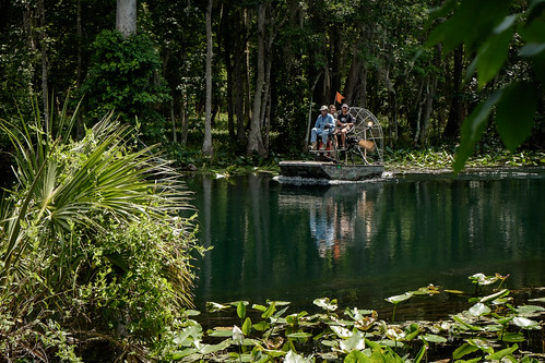 silversprings people usa reflection tree water river landscape boat florida candid group boating lilypads watercraft airboat peoplephotography edrosack
