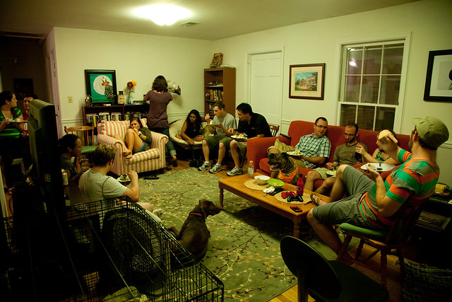 crowded into the living room flickr photo sharing