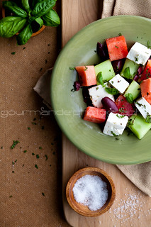watermelon, heirloom tomato and feta salad | picking the perfect watermelon