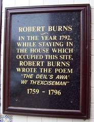 Photo of Robert Burns black plaque