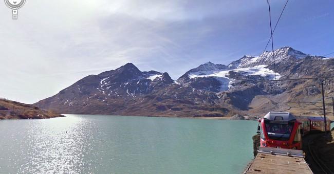 Bernina Expres - první železnice na světě na Street View