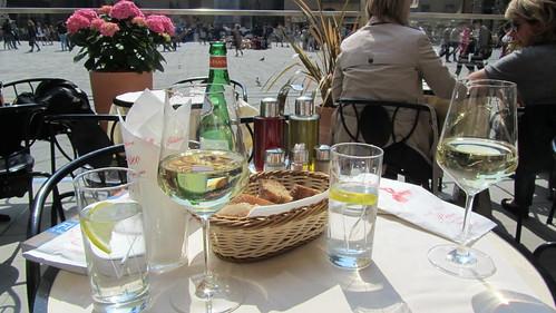 Lunch in Piazza della Signoria, Florence