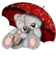 osos abrazados paraguas