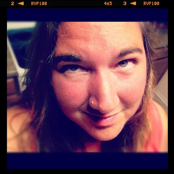 Admitting defeat...sunburned face, bloodshot eyes #imsotired #goodnight
