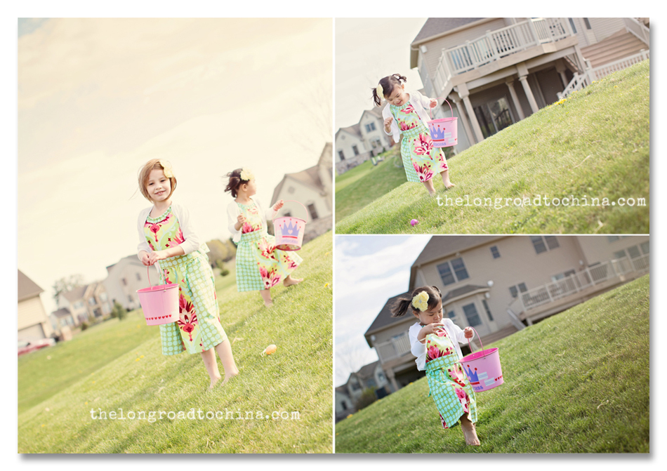 Easter Egg Hunting Collage