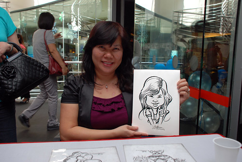 Caricature live sketching for Singapore Suntec City Annual Party - 5