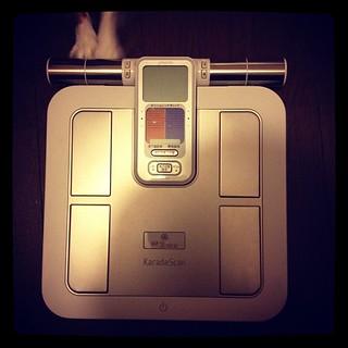 遅ればせながら、 @liguria くんに頂いた体重計を開封。ありがとうー。 - 無料写真検索fotoq
